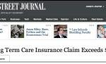 long term care insurance story runs in Wall Street Journal