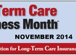 Logo for long term care awareness month