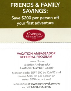 Discount Overseas Advenyure Travel
